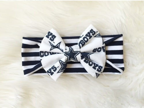 DALLAS COWBOYS NFL Football Classic Bow Headband