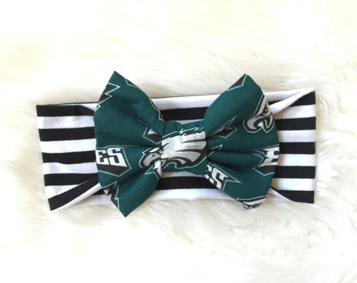 PHILADELPHIA EAGLES NFL Football Classic Bow Headband