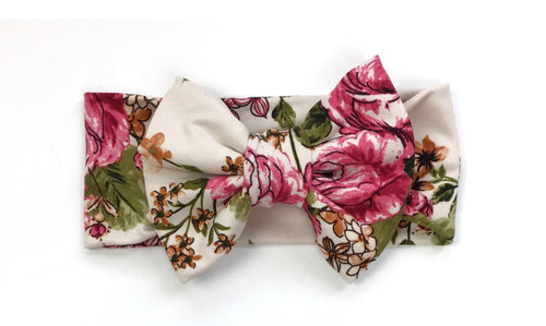 BELLINA Floral Classic Bow Headband