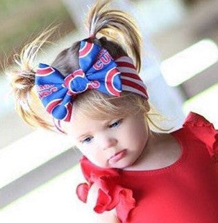 CHICAGO CUBS MLB Classic Bow Headband