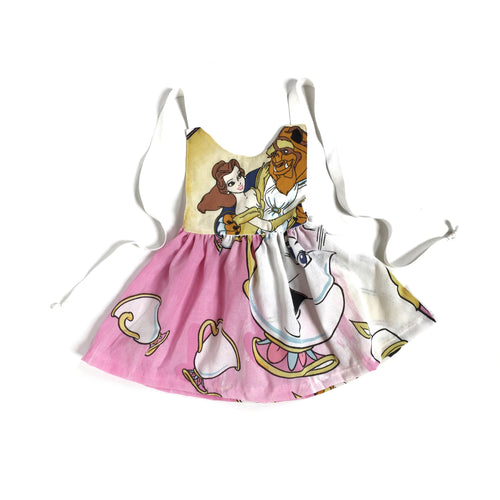 VINTAGE BEAUTY AND THE BEAST Tie-Back Dress