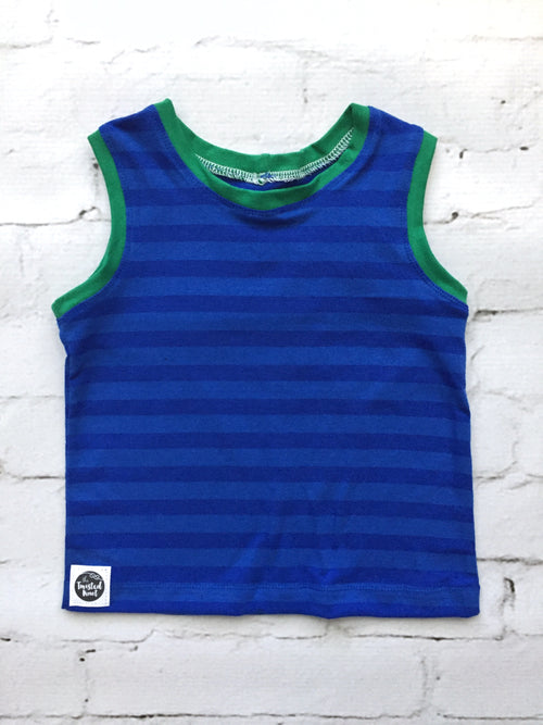 ROYAL BLUE STRIPES Tank Top