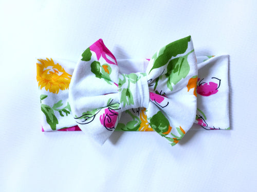 PENNY FLORAL Classic Bow Headband
