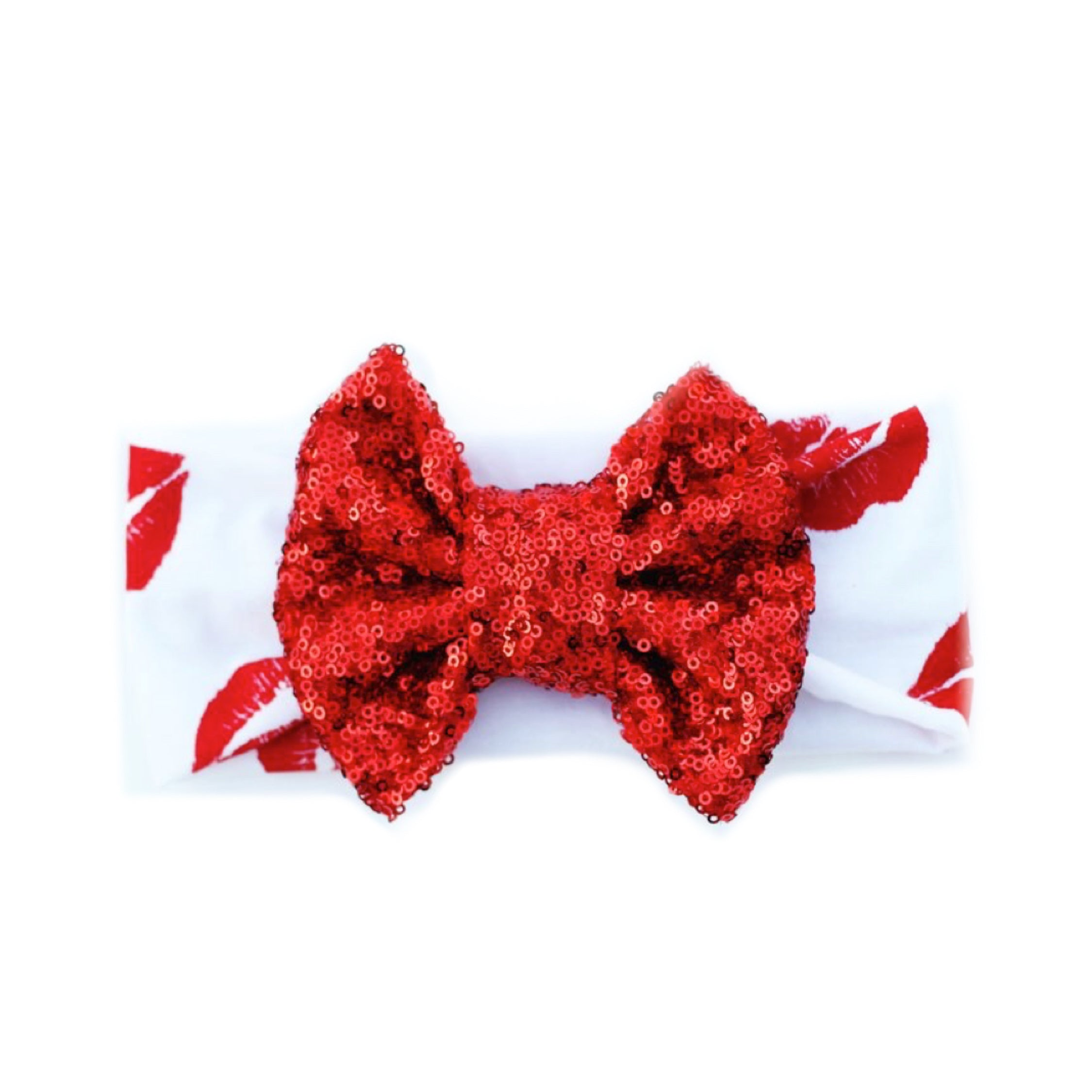 KISS ME Classic Sequin Bow Headband