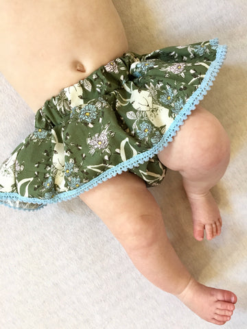 MINTY DOTTY Skirted Bloomer