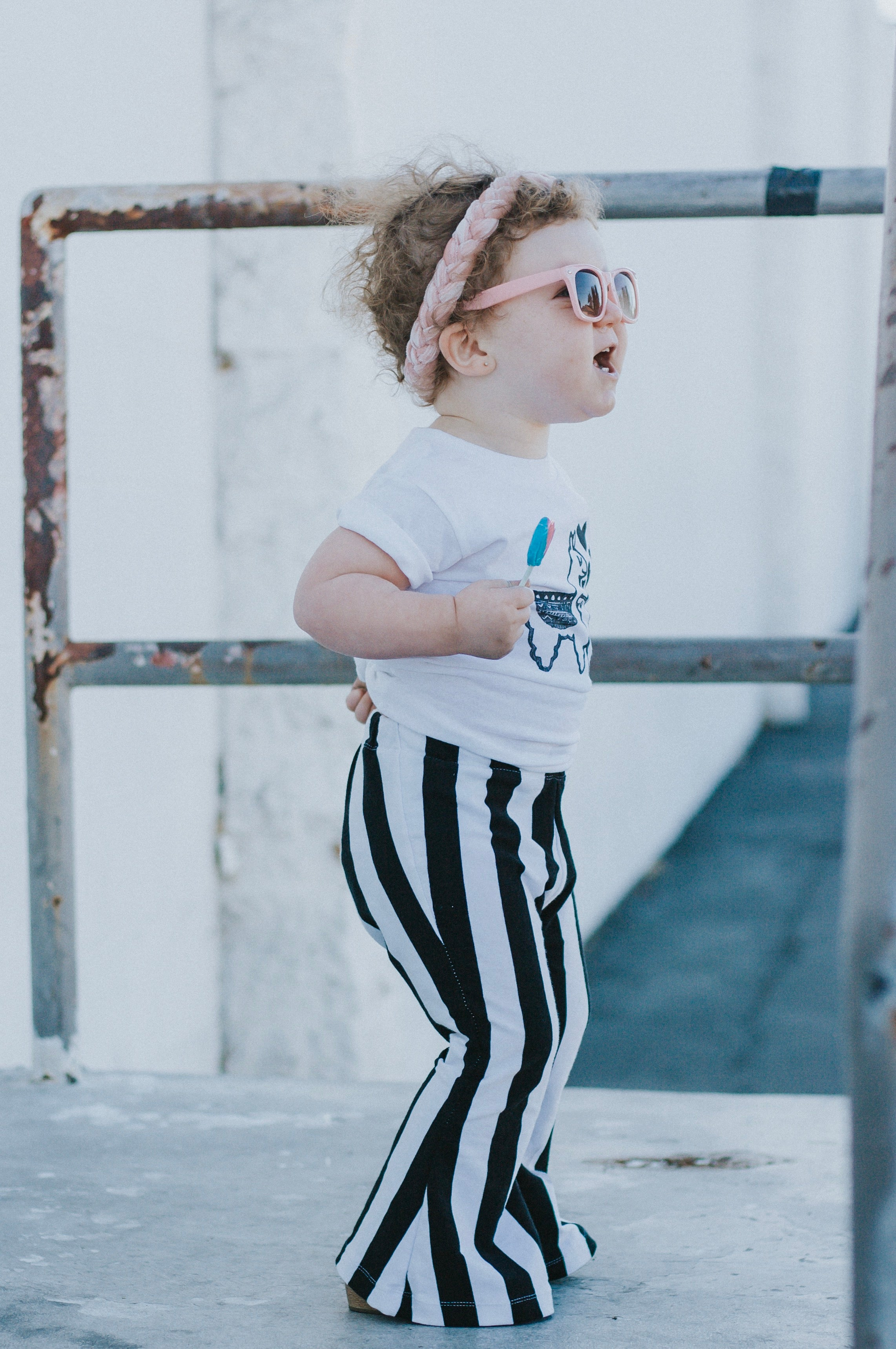 BIG B&W STRIPES Bell Bottoms