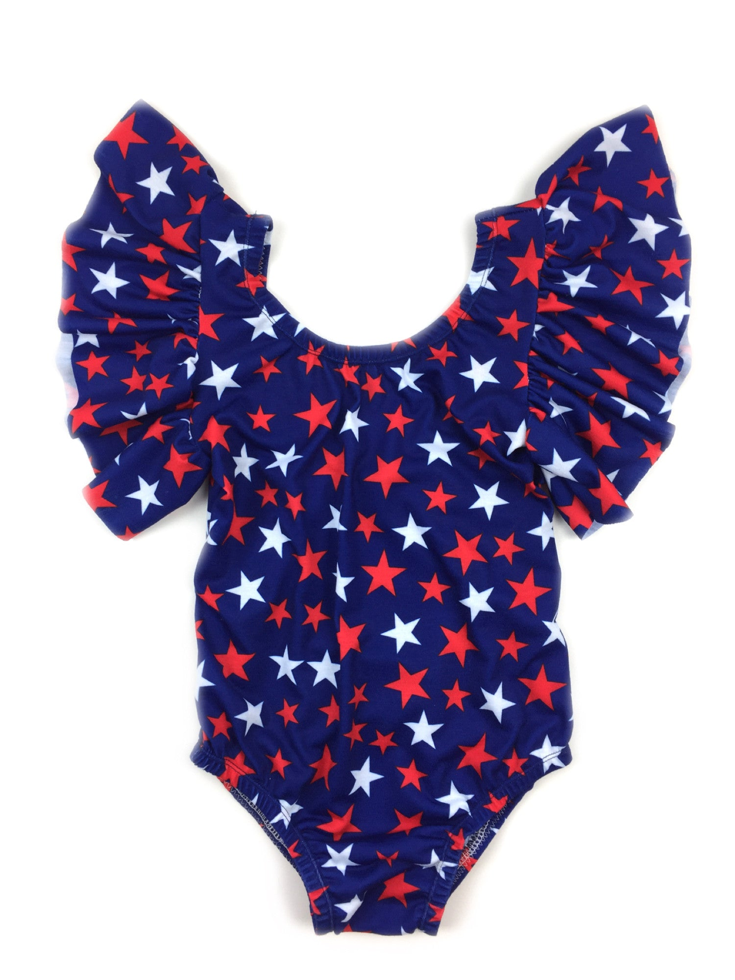 INDEPENDENCE DAY Ruffle Sleeve Leotard