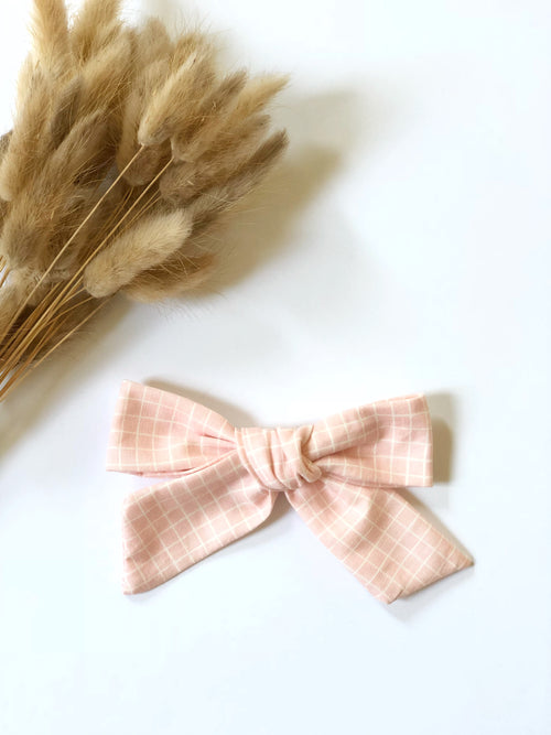 Blush Windowpane LANA Bow