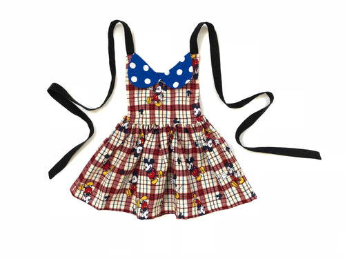 MICKEY PLAID Tie Back Dress