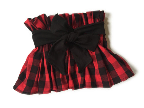 LUMBER JANE High Waisted Ruffle Skirt