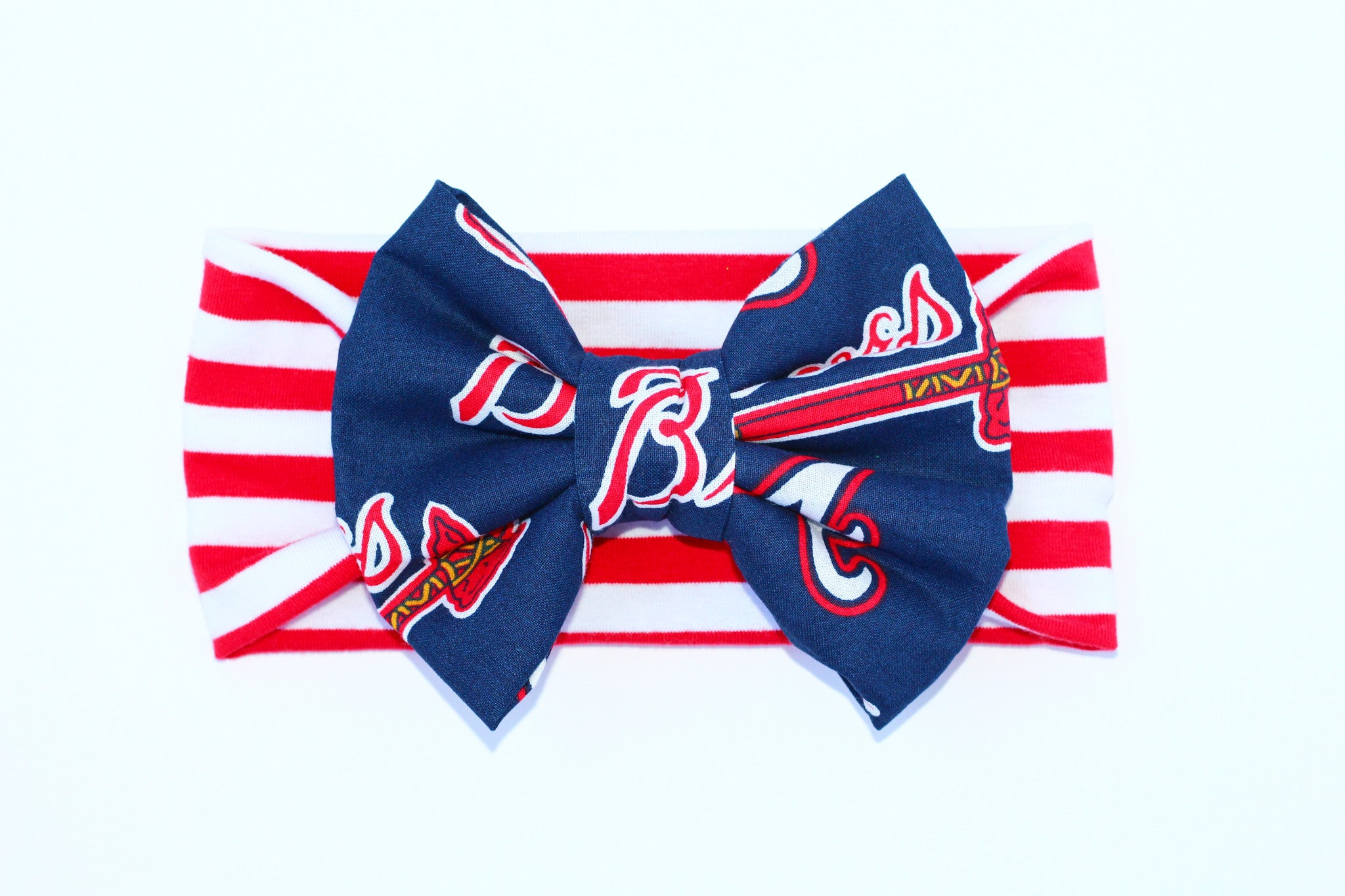 ATLANTA BRAVES MLB Classic Bow Headband