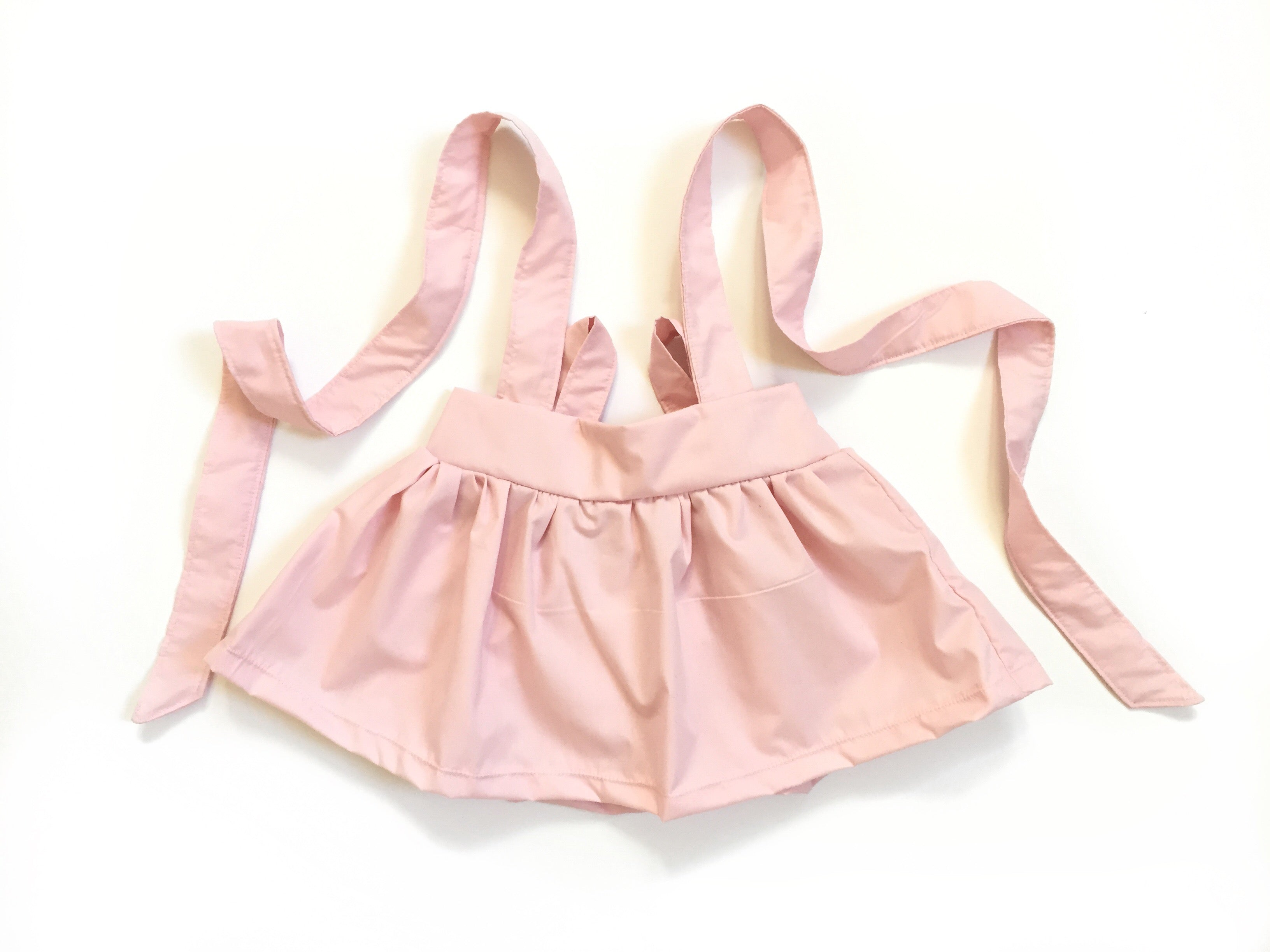 BABY PINK Suspender Skirt