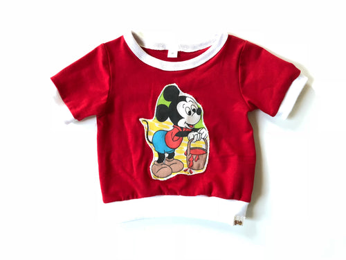 PAINTING MICKEY MOUSE Vintage Crop Top