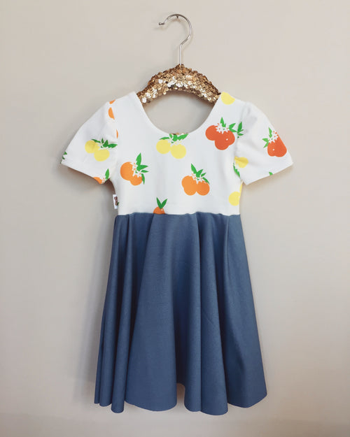 CITRUS SUNRISE Twirl Dress
