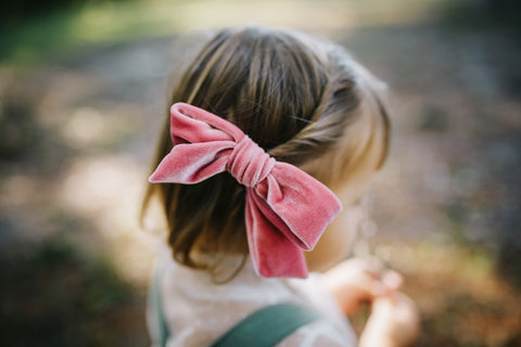 Blush Linen LANA Bow