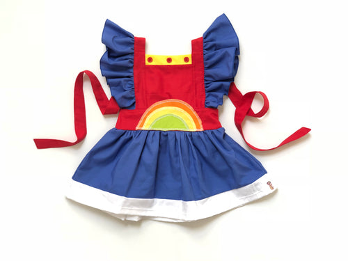 RAINBOW BRITE Pinafore Dress