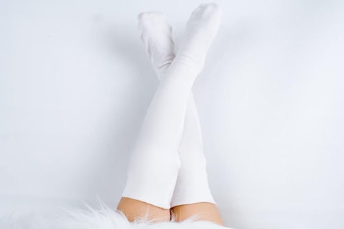 CREAM Knee High Socks