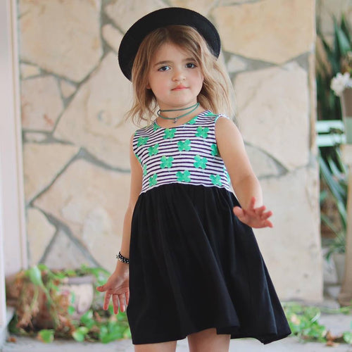 SHAMROCKS & STRIPES Twirl Dress