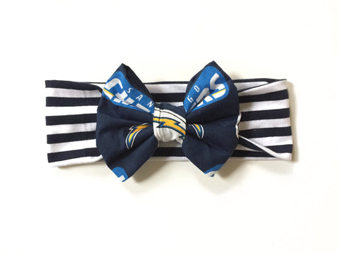 SAN DIEGO CHARGERS NFL Football Classic Bow Headband