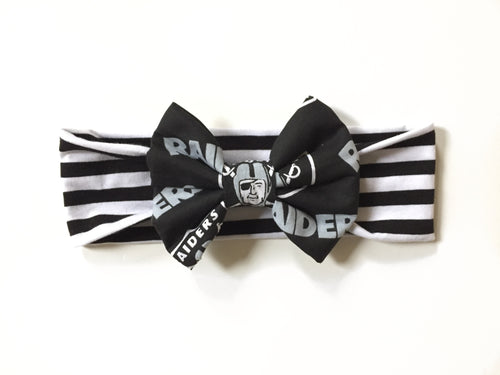 OAKLAND RAIDERS NFL Football Classic Bow Headband