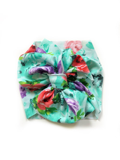MINT ROSES Bow Wrap
