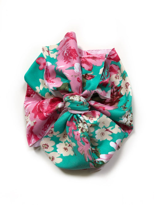PINK PEONIES Bow Wrap