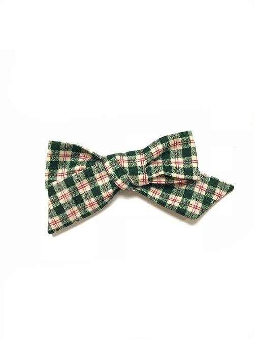 Winter Green Vintage Plaid LANA Bow