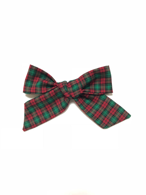 Christmas Red & Green Plaid Vintage LANA Bow