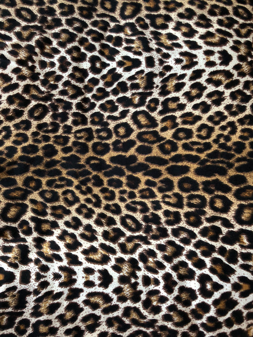 WILD CAT LEOPARD Short Sleeve Leotard