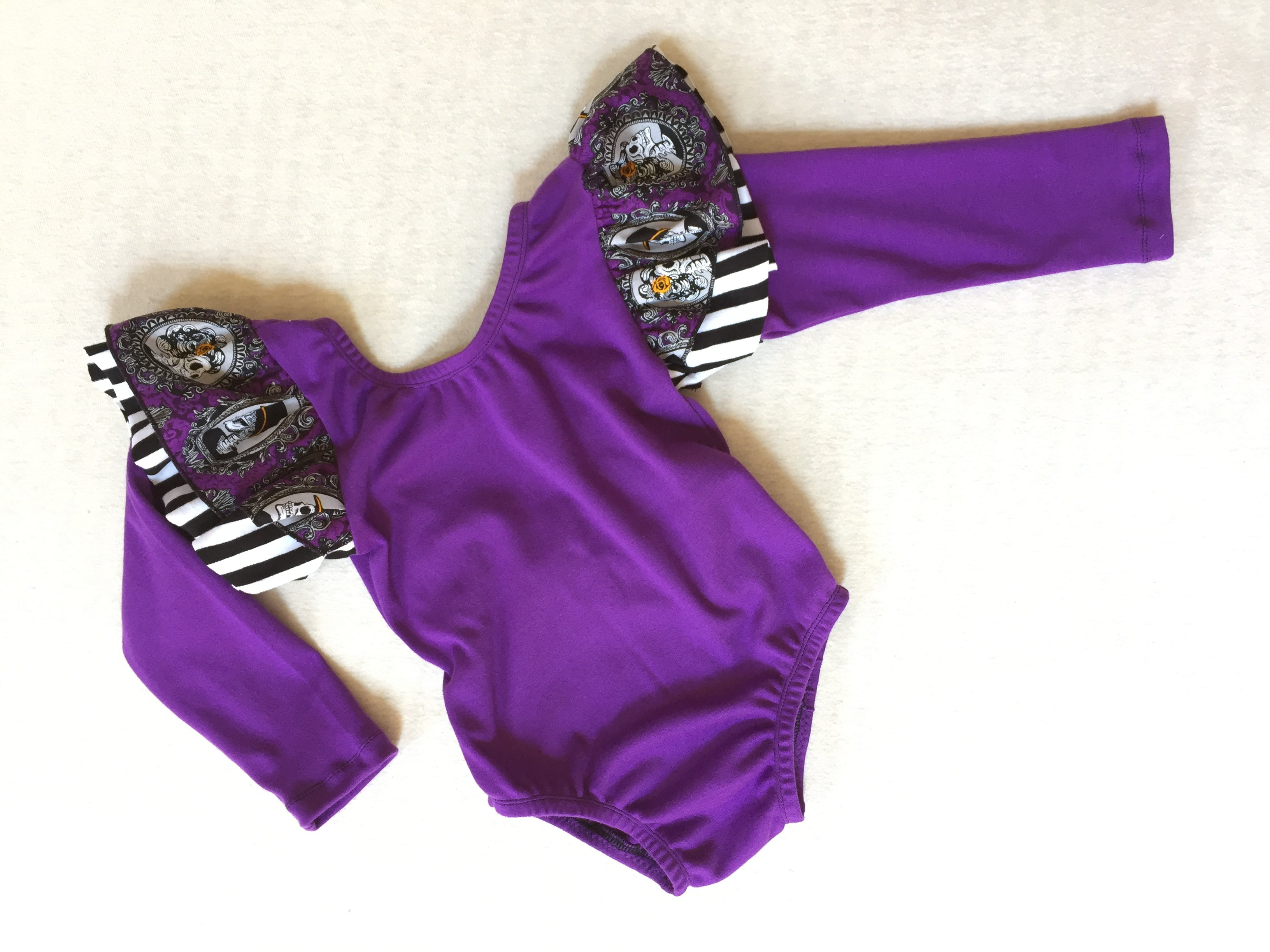 CREEPY SKELETONS Halloween Leotard