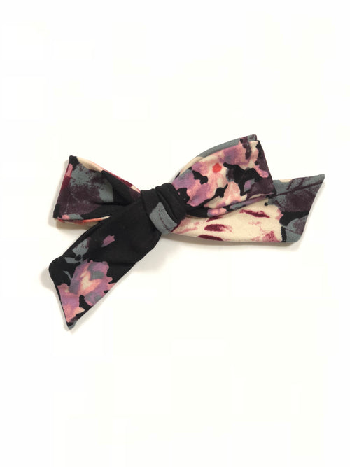 BLACK + PURPLE FLORAL Lana Bow