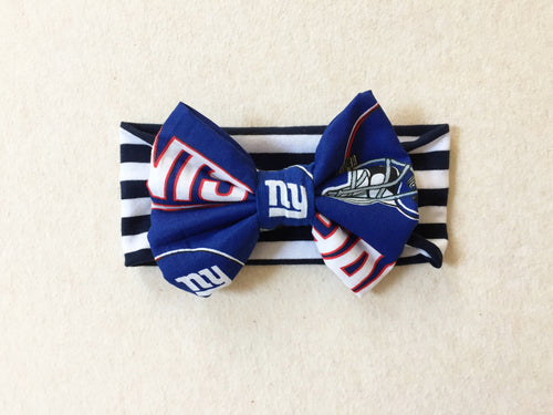 NY GIANTS NFL Football Classic Bow Headband