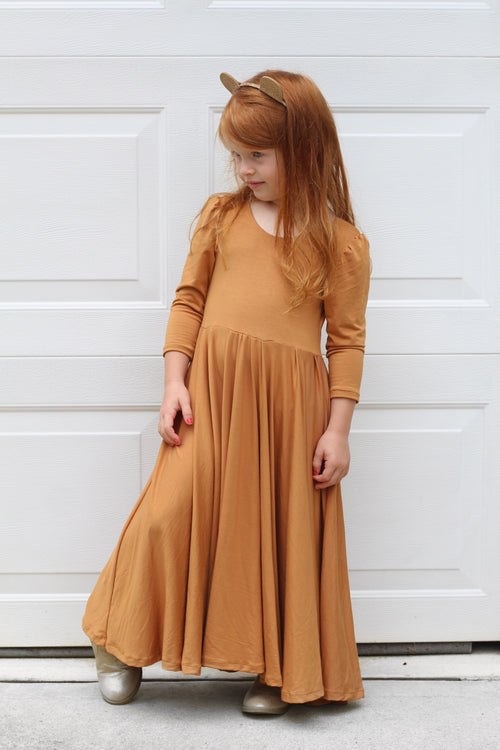 OLIVE GREEN Maxi Twirl Dress