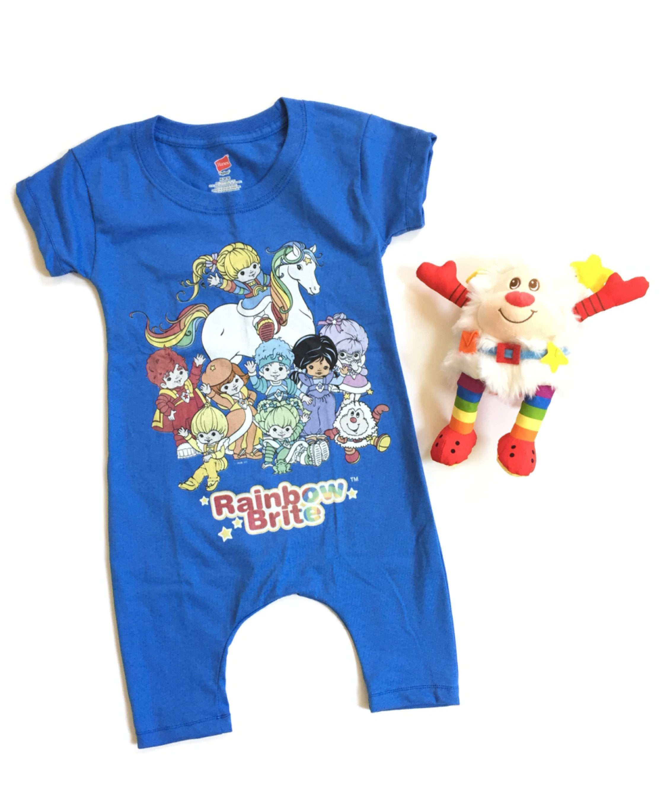 RAINBOW BRITE & FRIENDS T-Shirt Harem Romper
