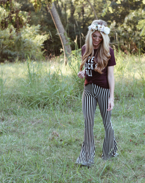 STRIPING BEAUTY Women's Bell Bottoms