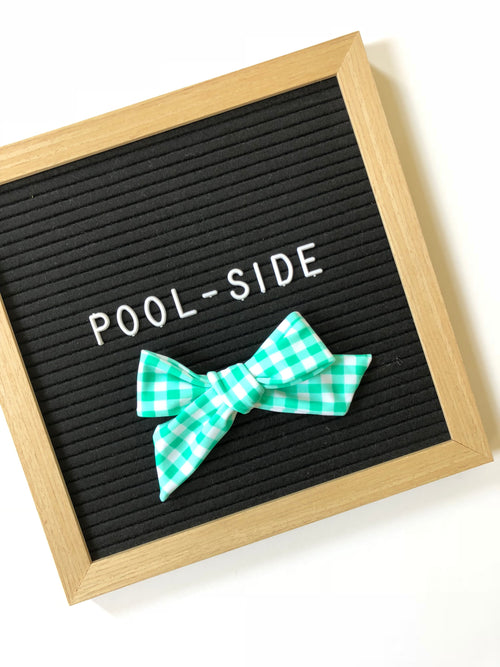 Mint Gingham POOLSIDE LANA Bow