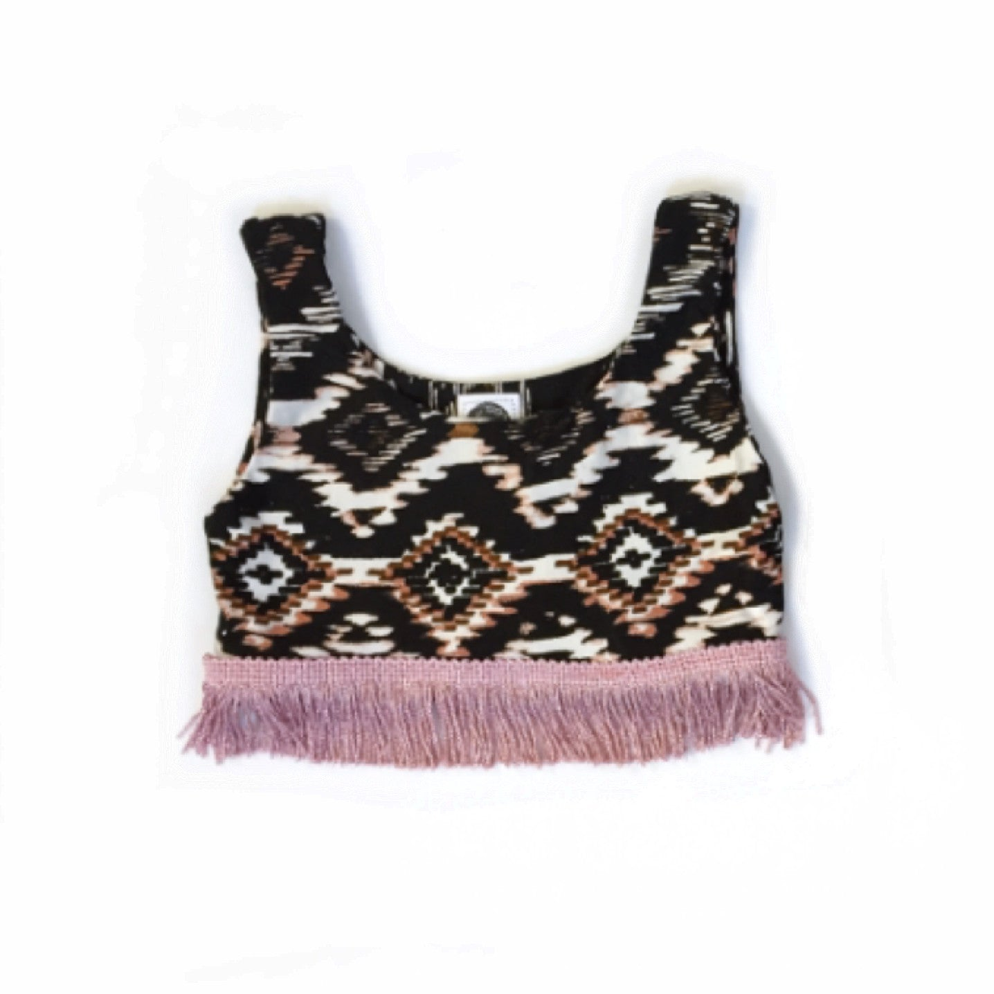 BLACK & BLUSH AZTEC Crop Tank Top