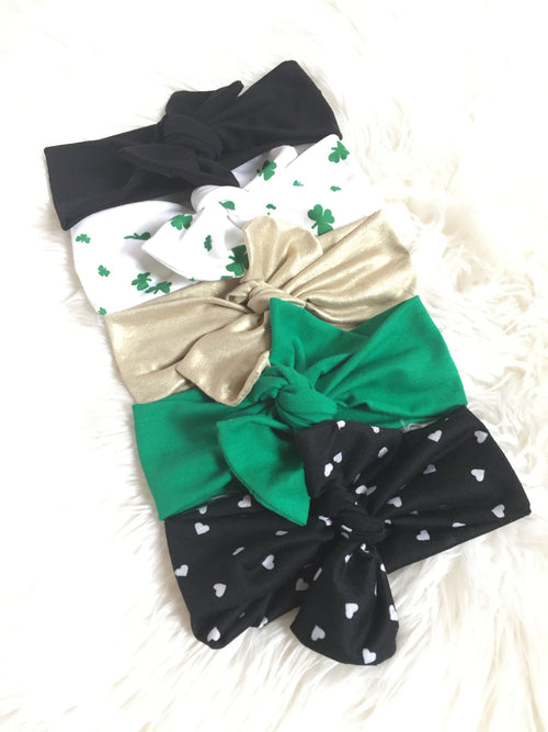 ST. PATRICK'S DAY 5-PACK Headwraps Bundle
