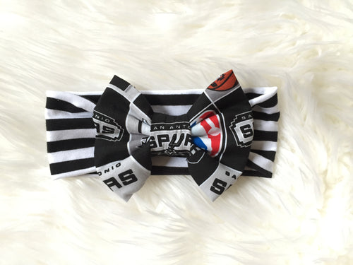 NBA BASKETBALL Classic Bow Headband - Choose from several teams!