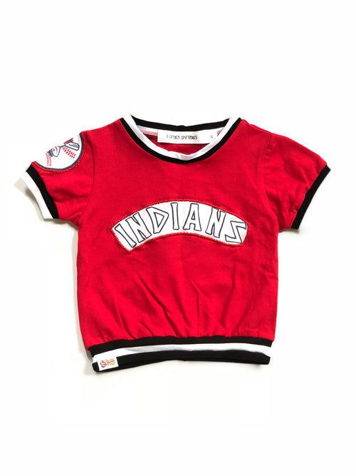 CLEVELAND INDIANS Retro Baseball Uniform Top