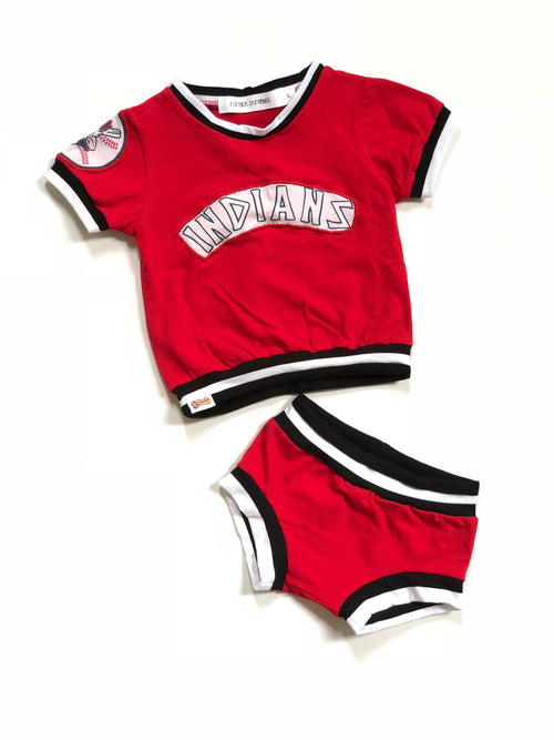 CLEVELAND INDIANS Retro Baseball Uniform Bummies