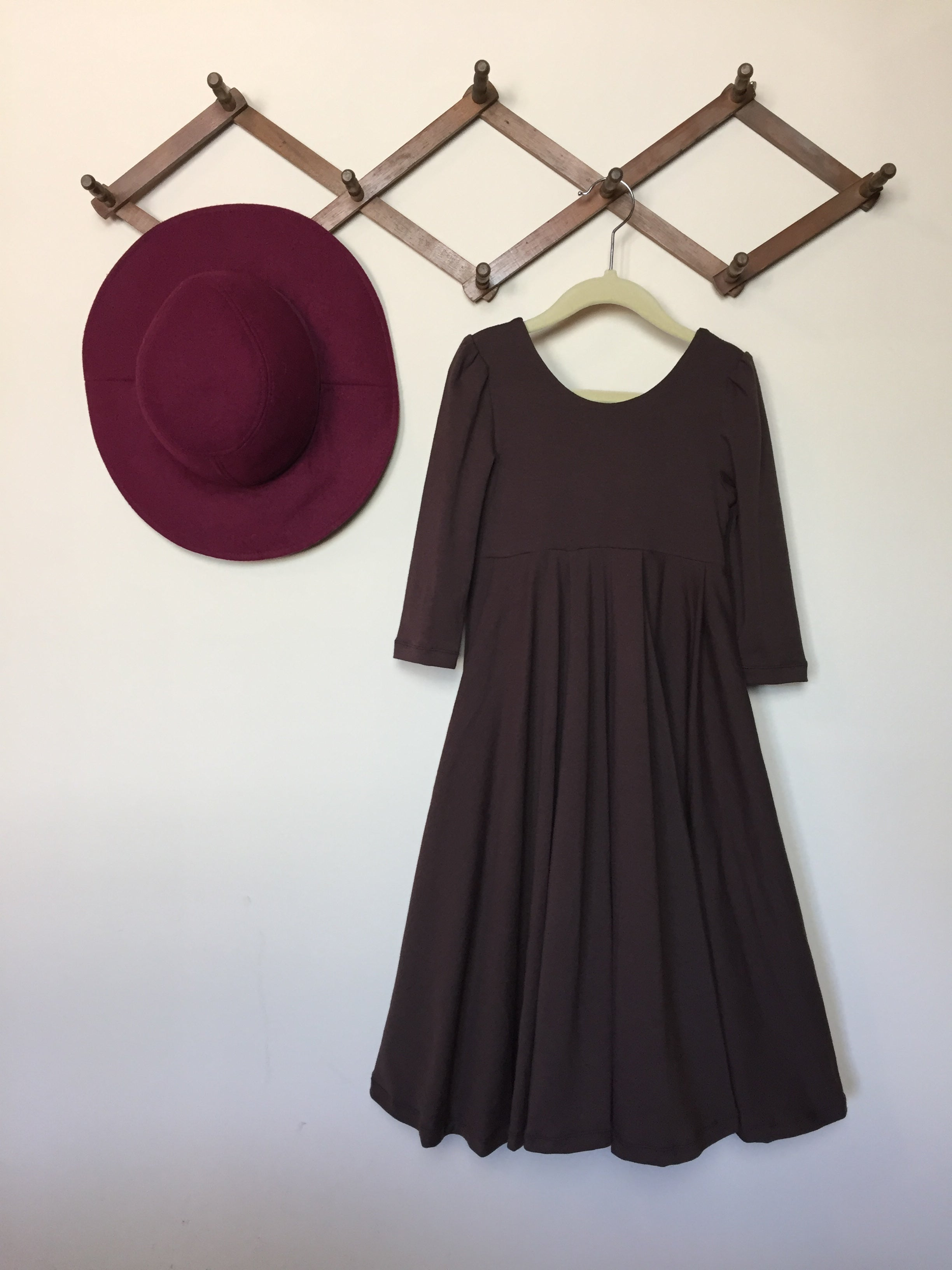 CHOCOLATE BROWN Maxi Twirl Dress