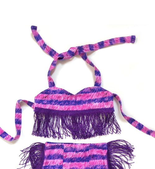 CHESHIRE CAT FRINGE Sweetheart Crop Top