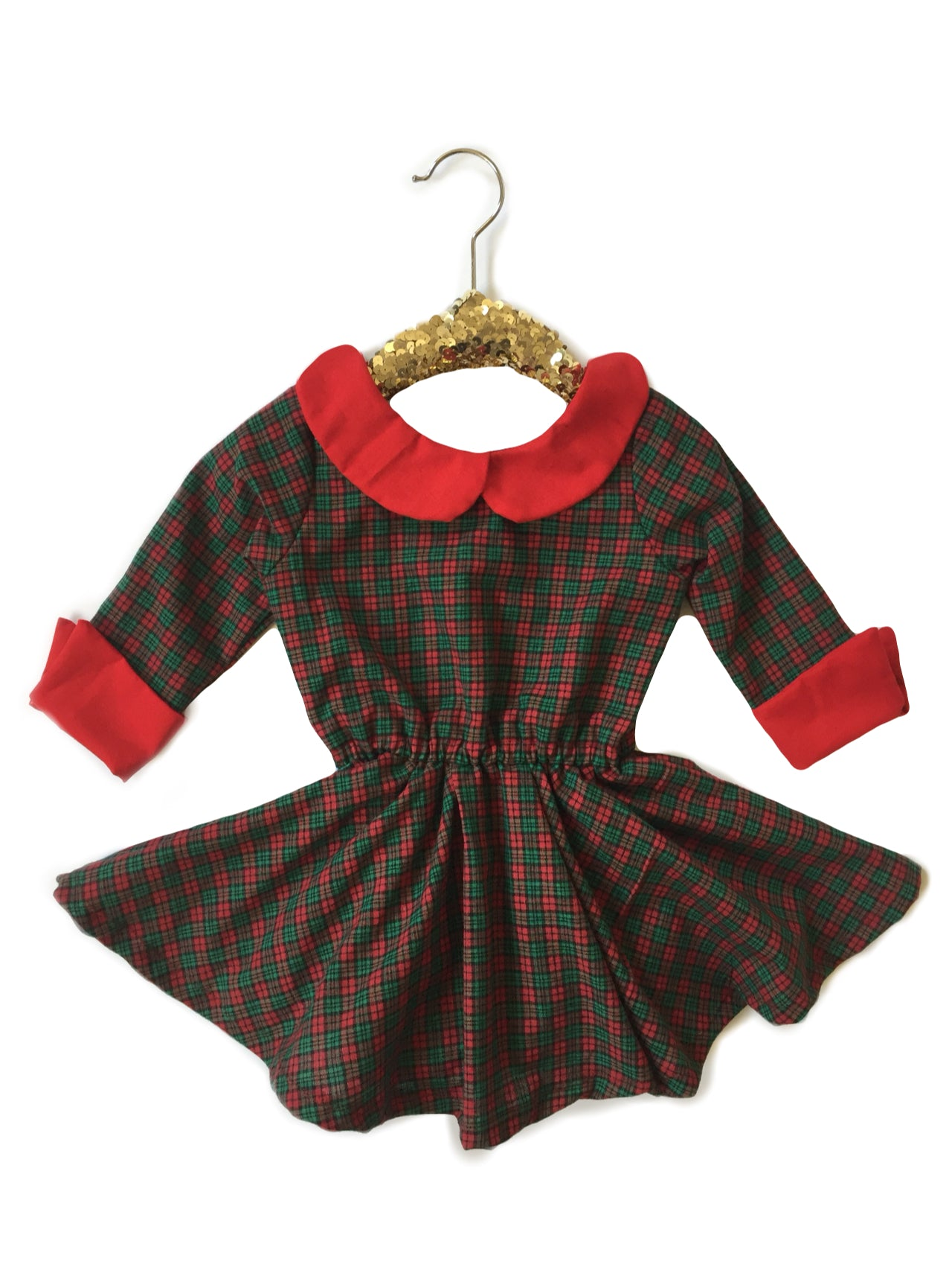 CHRISTMAS PLAID Vintage 60s Shortie Dress