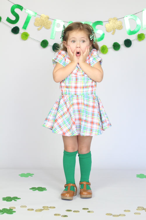 RAINBOW PLAID Shortie Dress