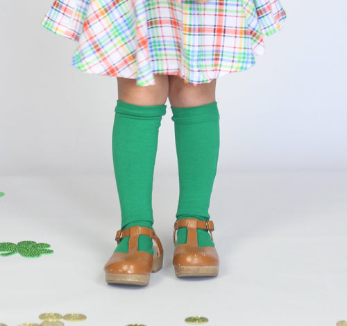 KELLY GREEN Knee High Socks
