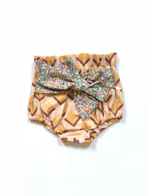 WAFFLE CONE & SPRINKLES Waisted Ruffle Bloomers
