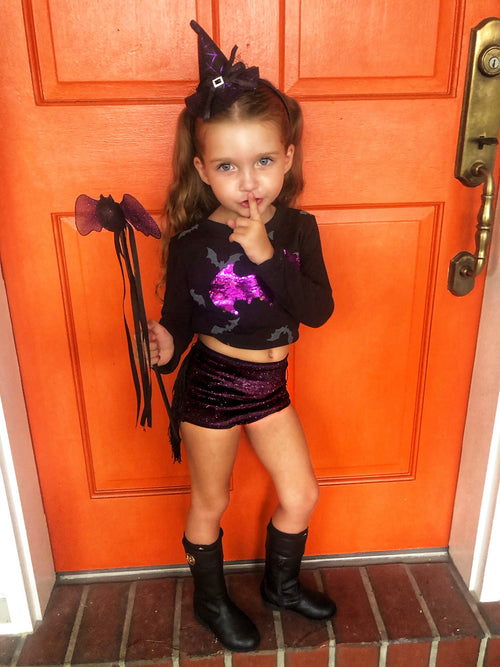 LITTLE PURPLE WITCHY Fringe Hot Pants