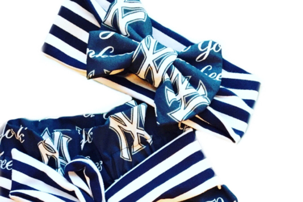 MLB BASEBALL Classic Bow Headband - Choose from 20+ different teams!