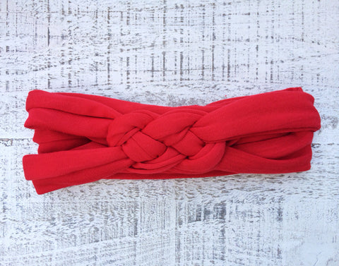Red Braided Headband
